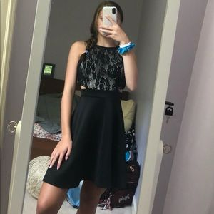 NWT Lots of Love dress black lace size 5